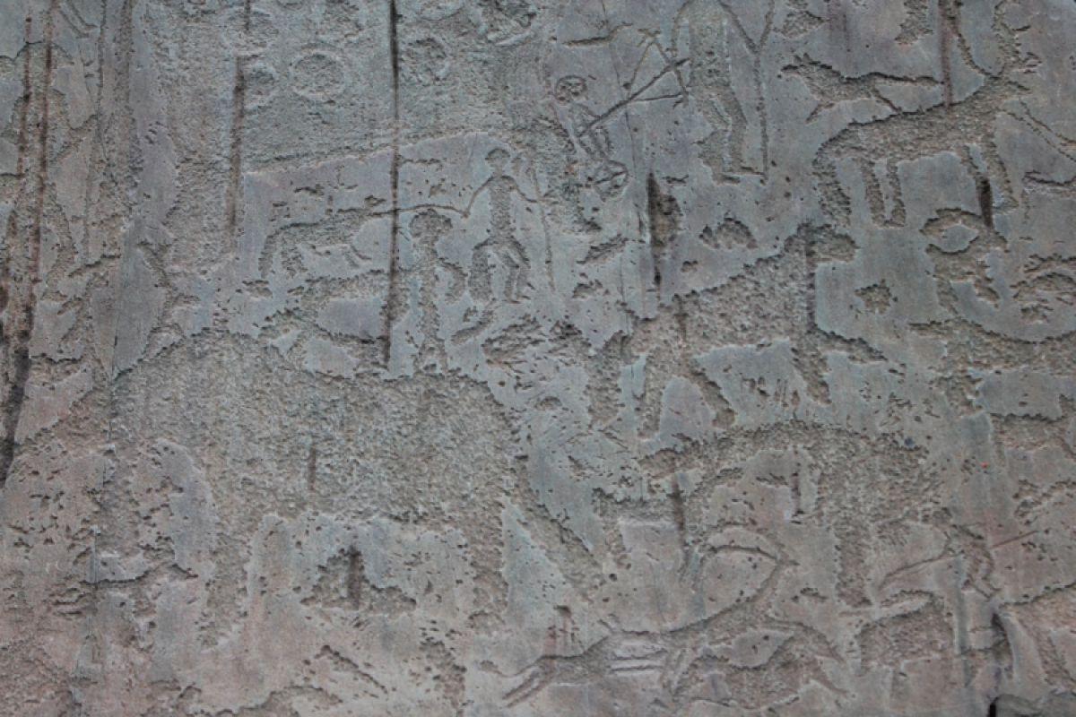 Наскальные рисунки в урочище Калбак-Таш