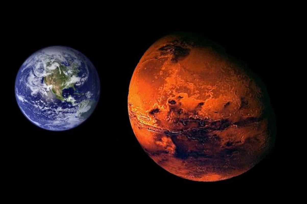Земля и Марс наполовину испарились во время своего рождения