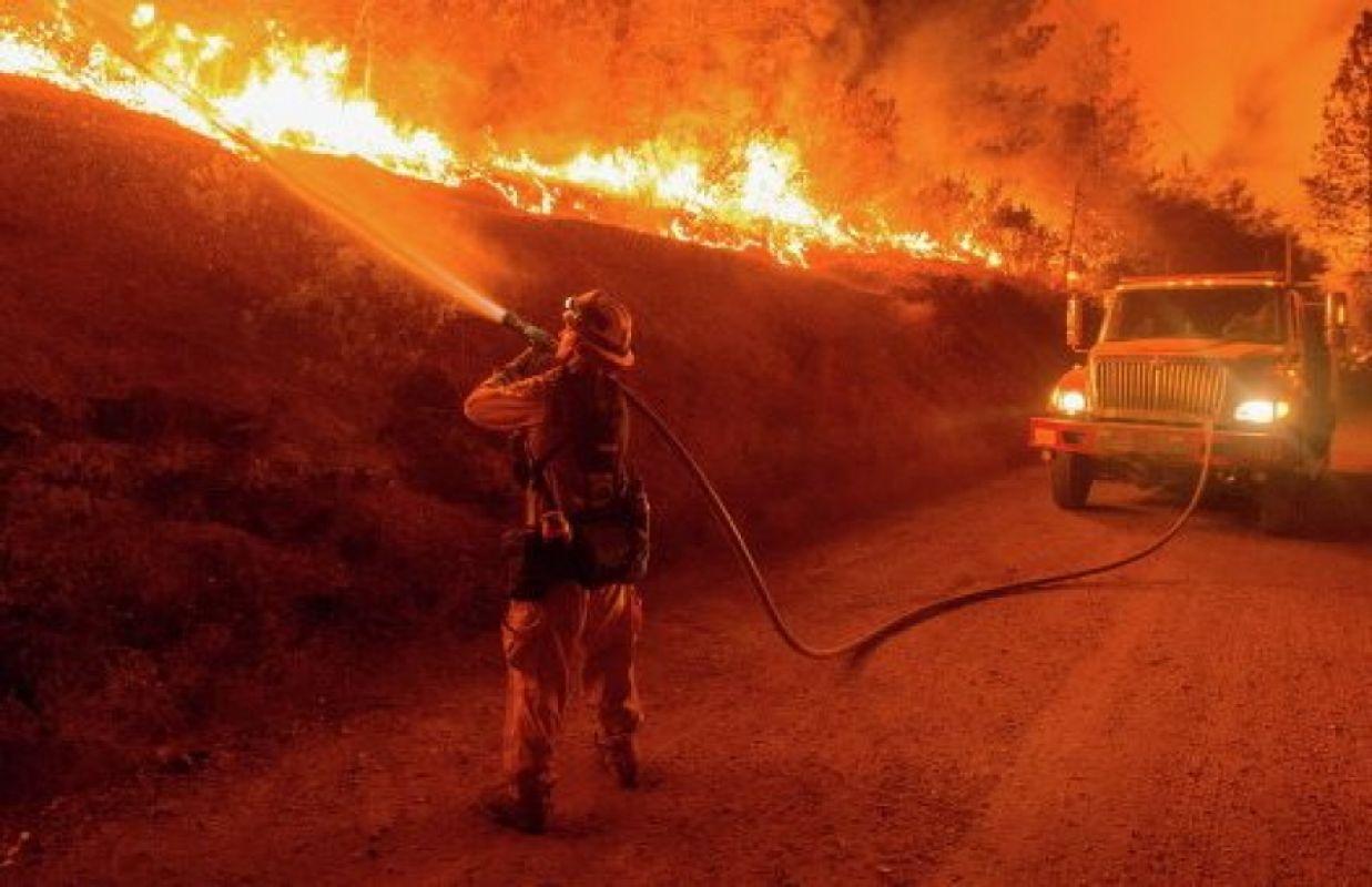 Пришельцы не дают покоя калифорнийским лесам: Возле пожара появился НЛО, шокировавший СМИ