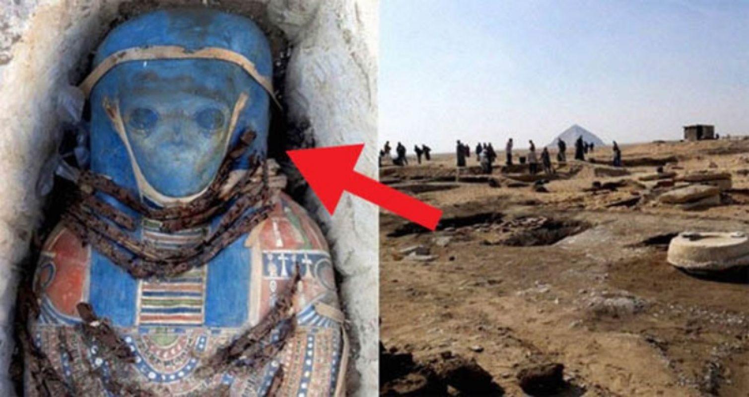 Невероятно, но факт: В СМИ появились шокирующие фото мумии настоящего пришельца, раскопанной в Египте