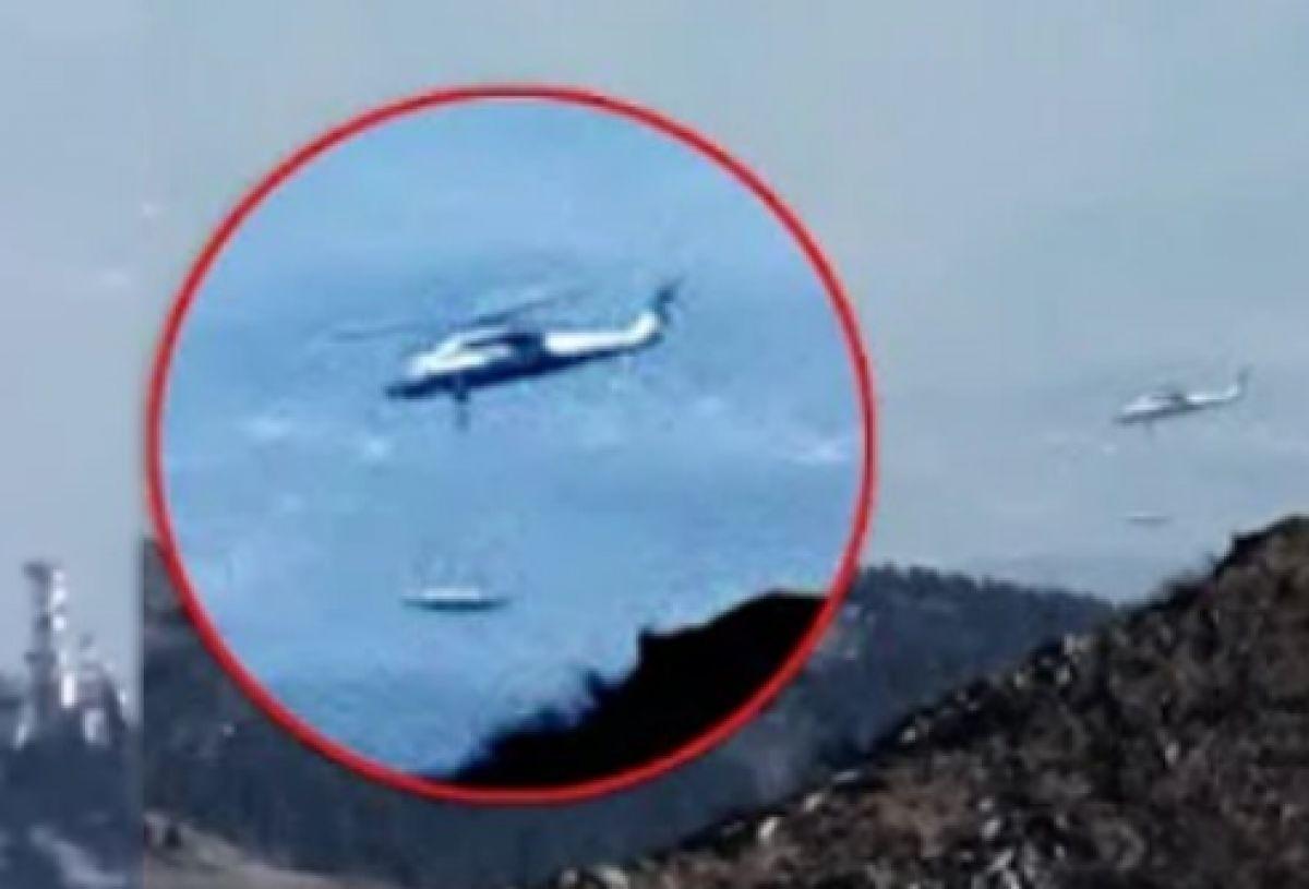 Власти США общаются с пришельцами? В сети появилось невероятное видео НЛО с американским военным вертолётом
