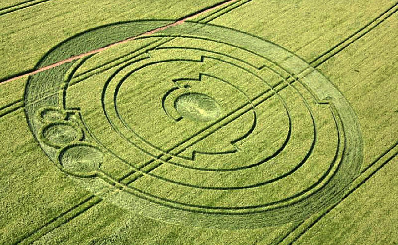 Новые рисунки на полях в Великобритании могут быть делом рук пришельцев, но один момент исследователей сильно смущает
