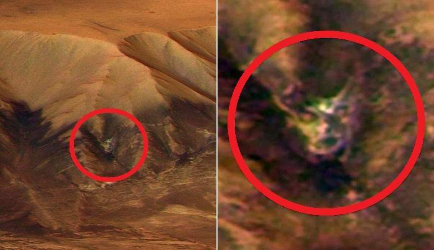 Изображение жуткого лица, найденное на Марсе, шокировало общественность