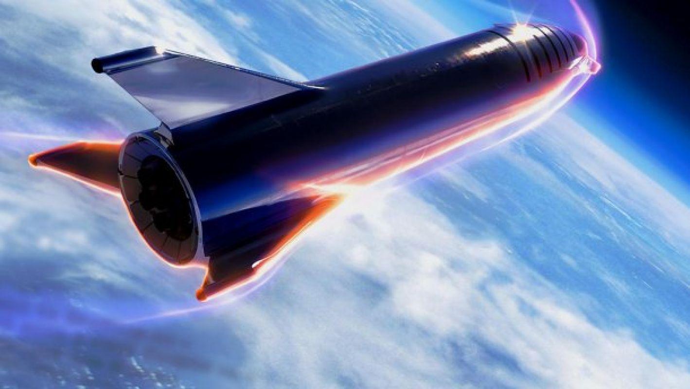 Прототип звездолета Starship загорелся во время испытаний двигателя
