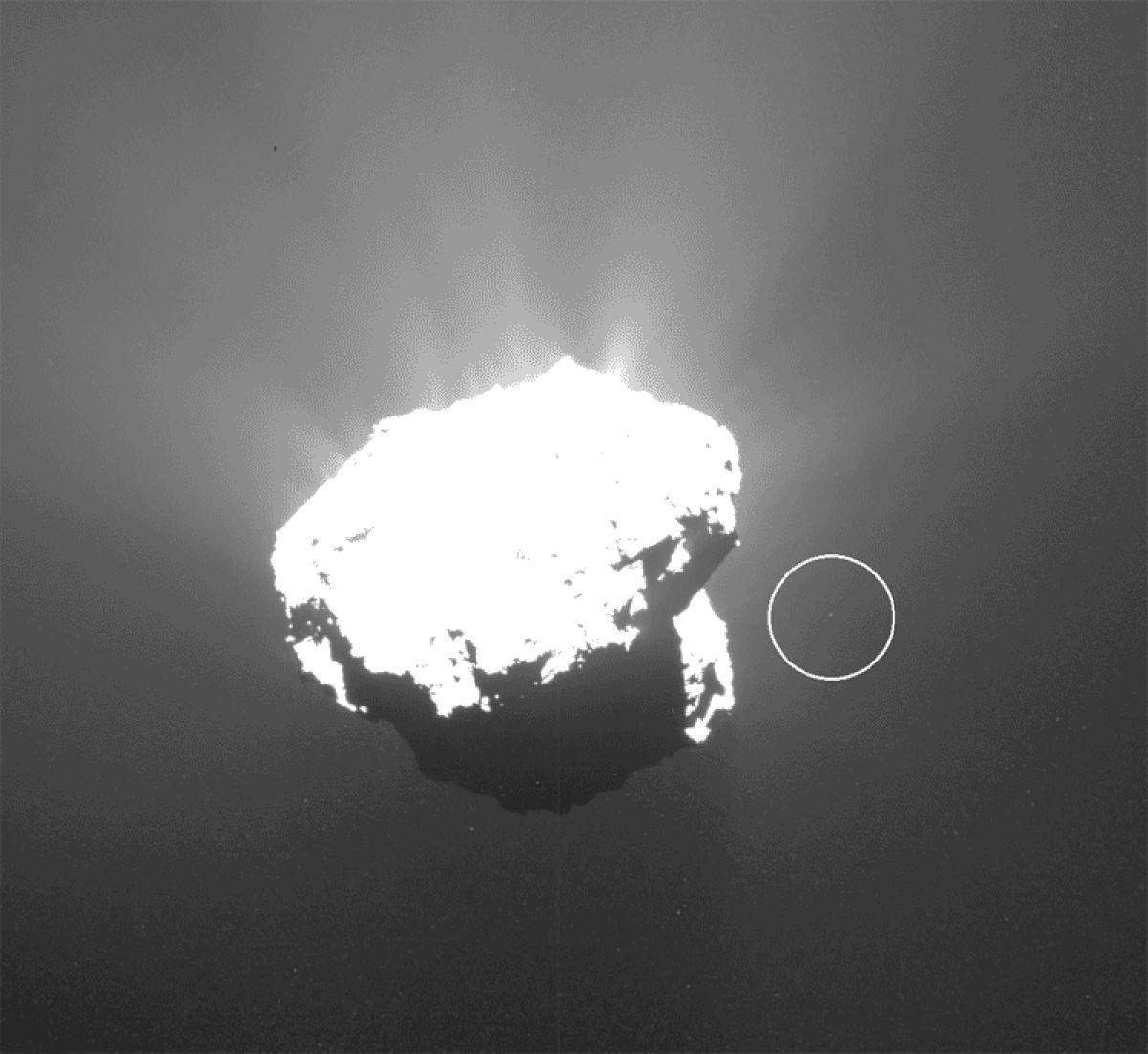Рядом с кометой 67P/Чурюмова–Герасименко обнаружен странный объект