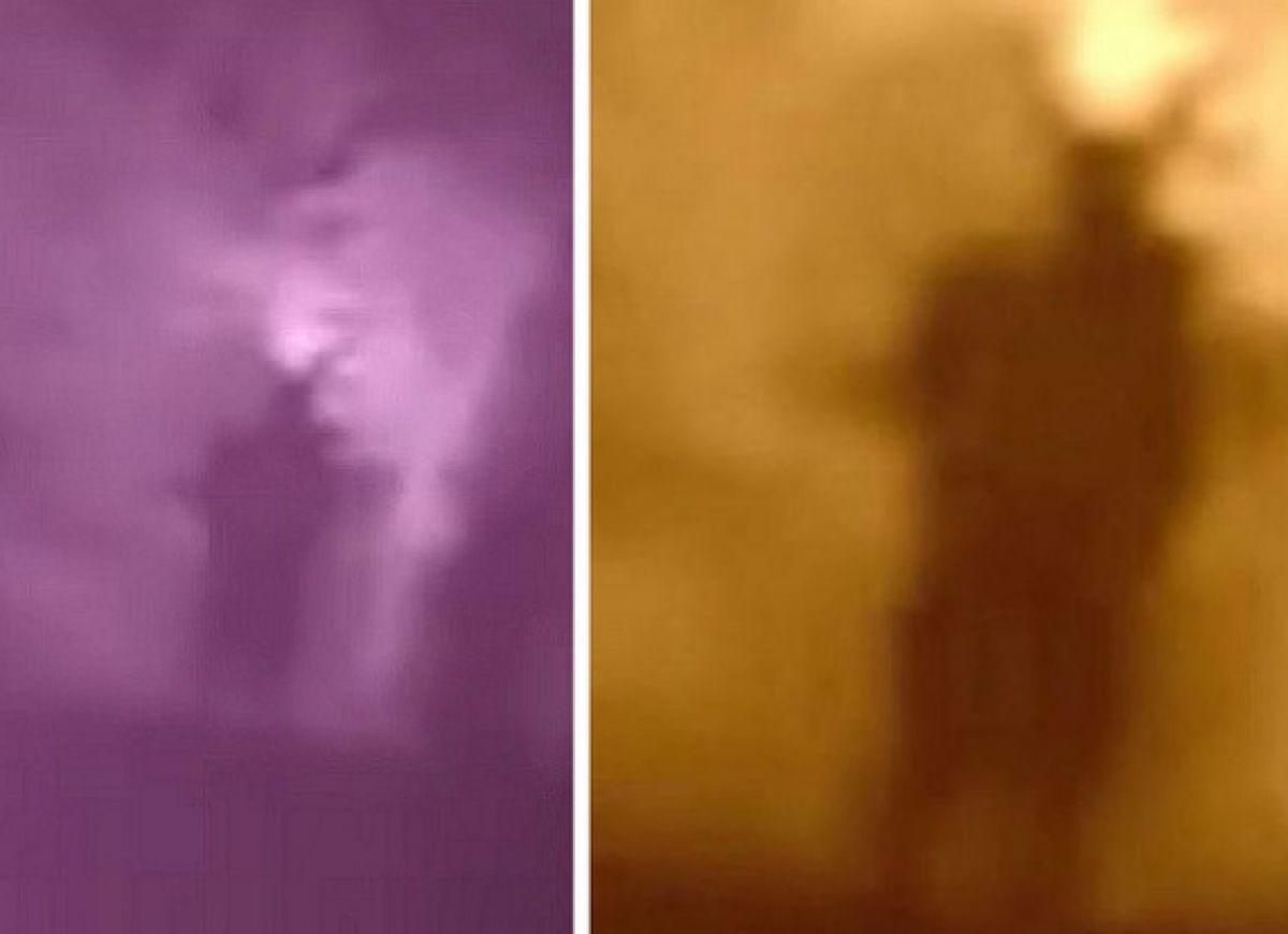 Исследователи изучают видео с Человеком-мотыльком на кладбище