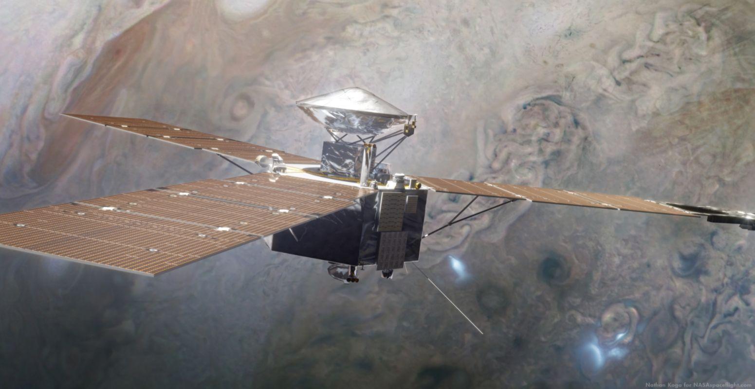 Juno будет находиться на орбите Юпитера ещё как минимум три-четыре года