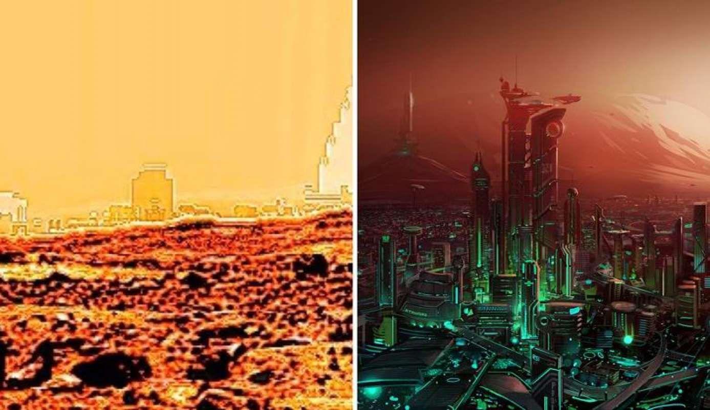 Уфолог нашёл на Марсе «древний гроб», интересное фото