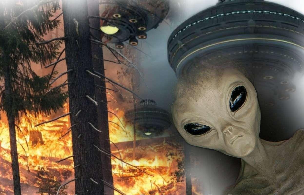 НЛО, который появился над горящим Сосновым бором в Кемерово, был снят на видео
