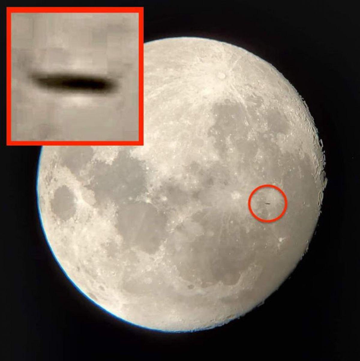 Скотт Уоринг опять заметил «летающую тарелку» на фоне Луны, любопытные кадры