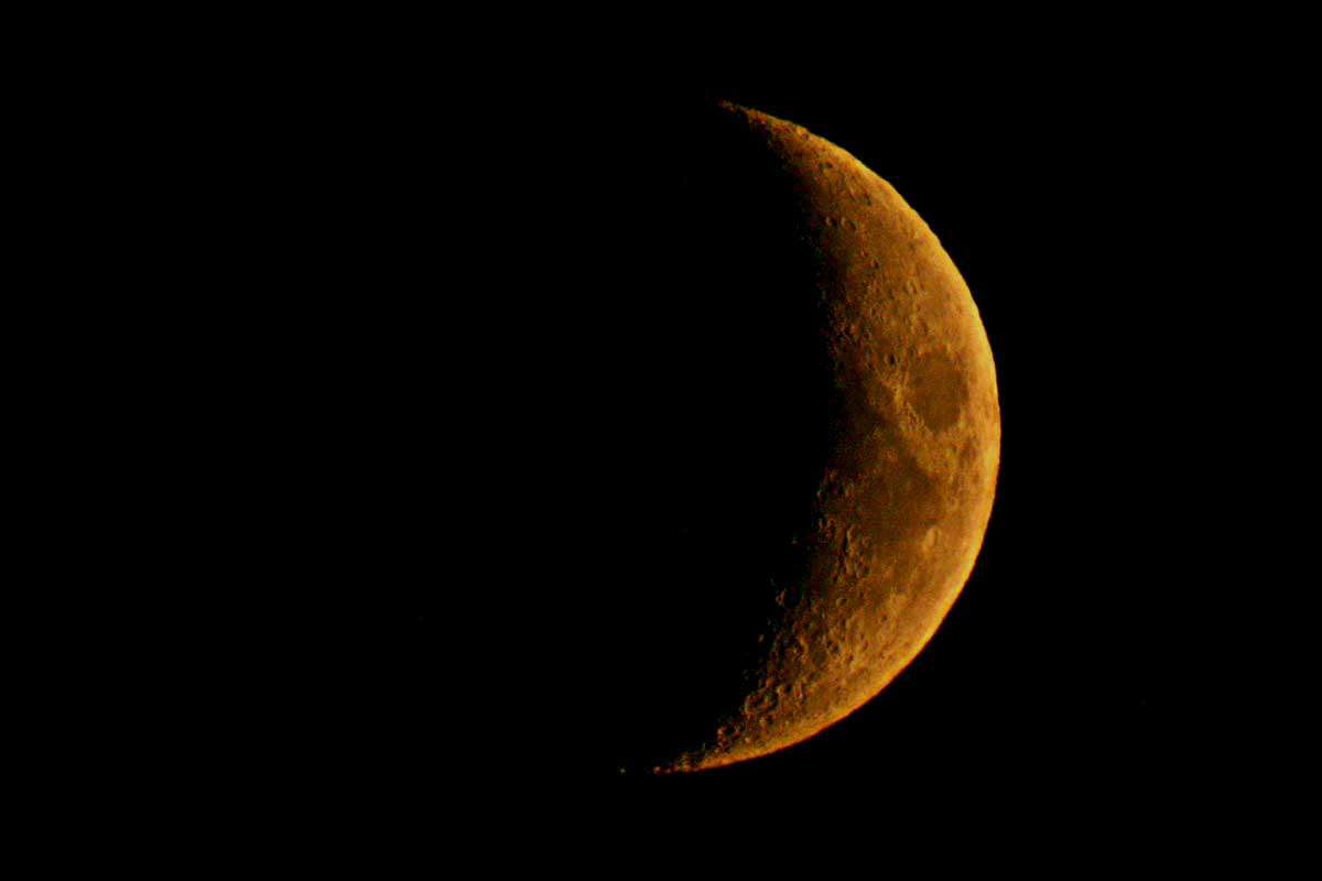 фото растущей луны
