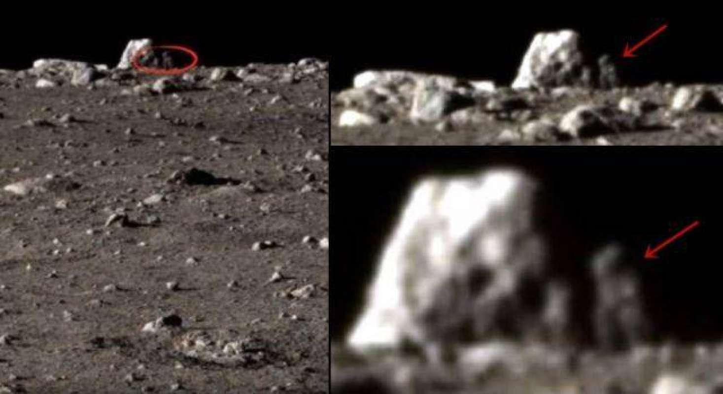 """На переданном ровером """"Chang'e 3"""" фото с Луны увидели силуэт гуманоида"""