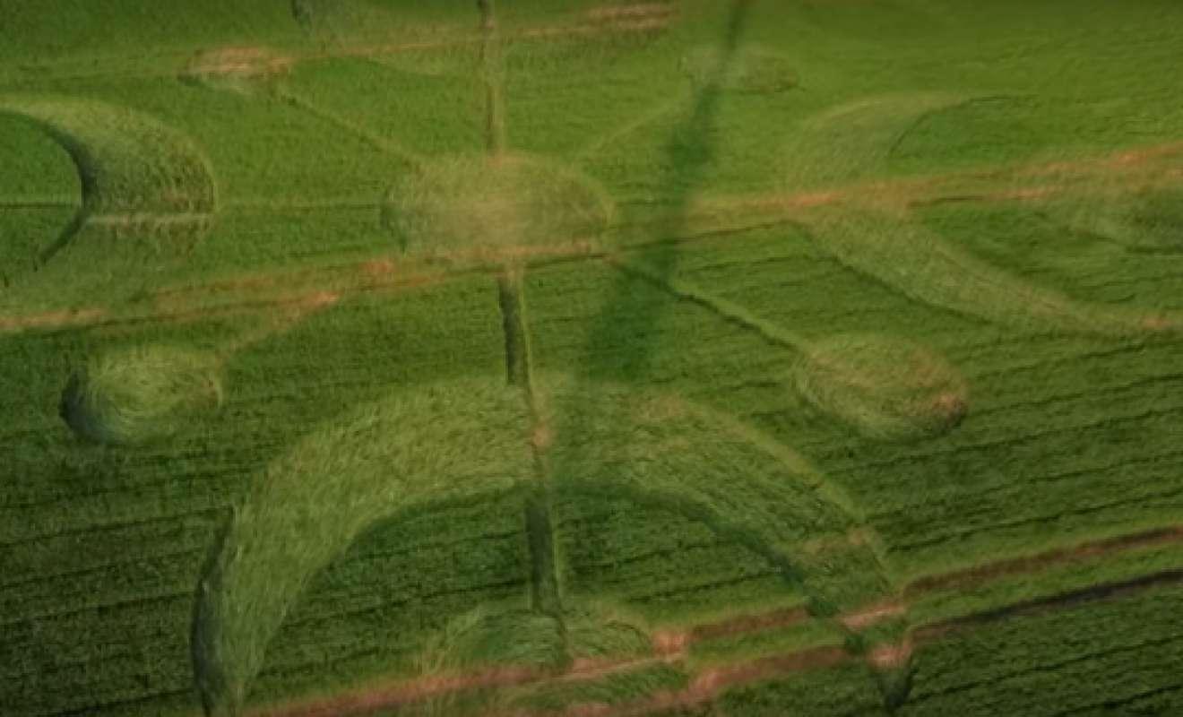 В Великобритании на полях образовались огромные загадочные узоры
