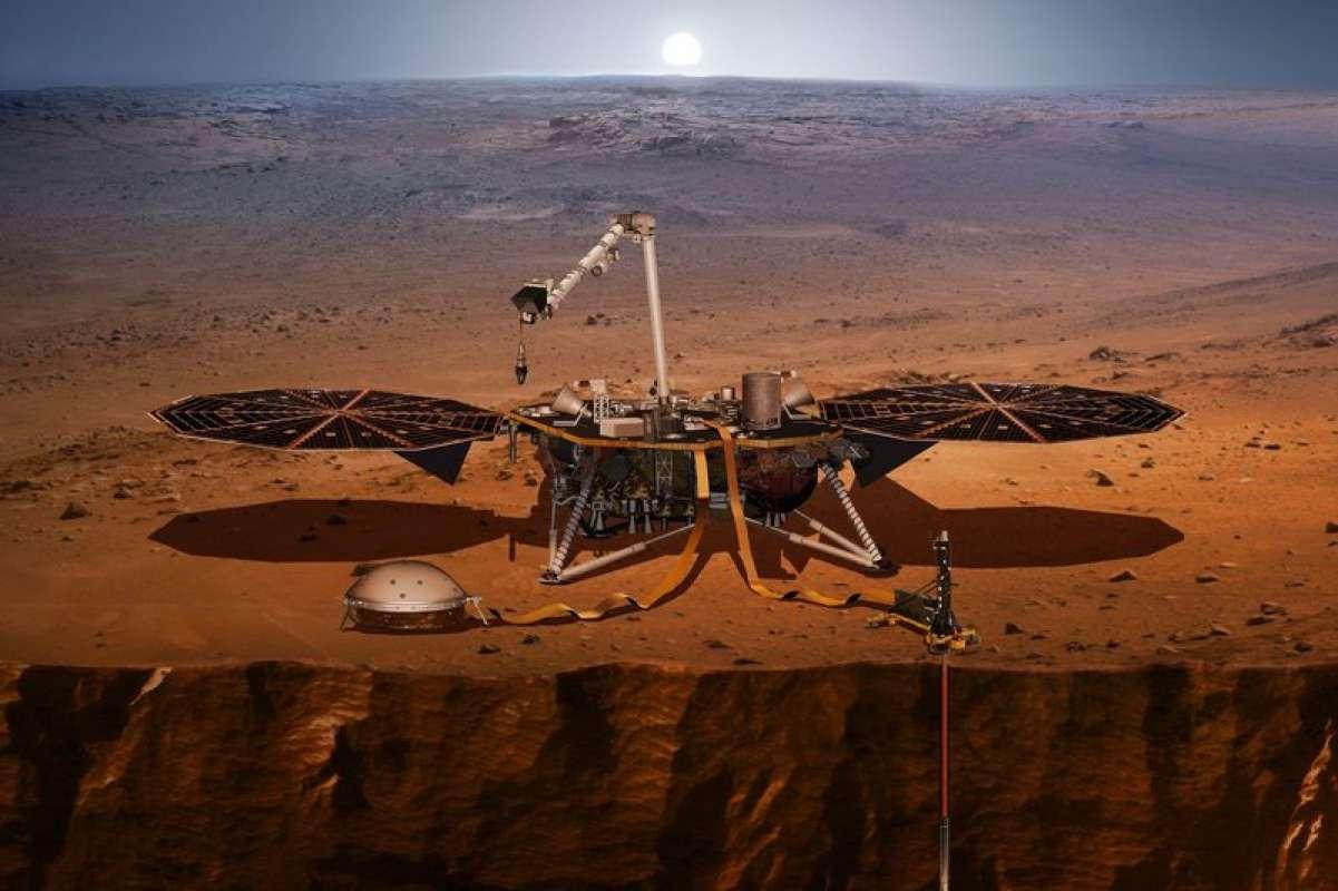 Зонд NASA InSight начал бурить на Марсе и столкнулся с непредвиденной преградой