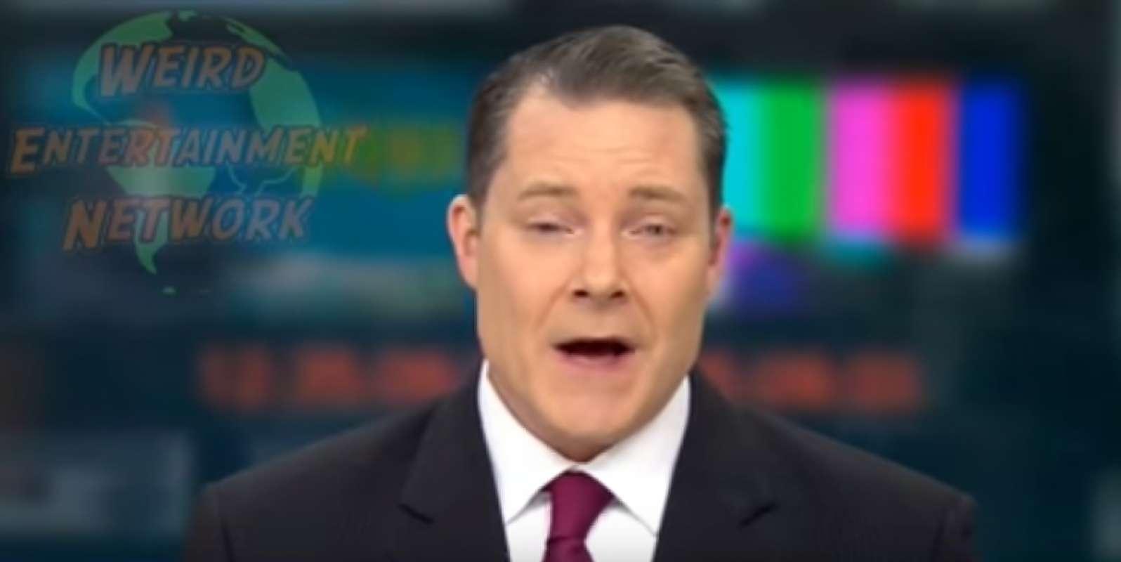 Невиданное видео: В США ведущий новостей оказался «инопланетным существом»