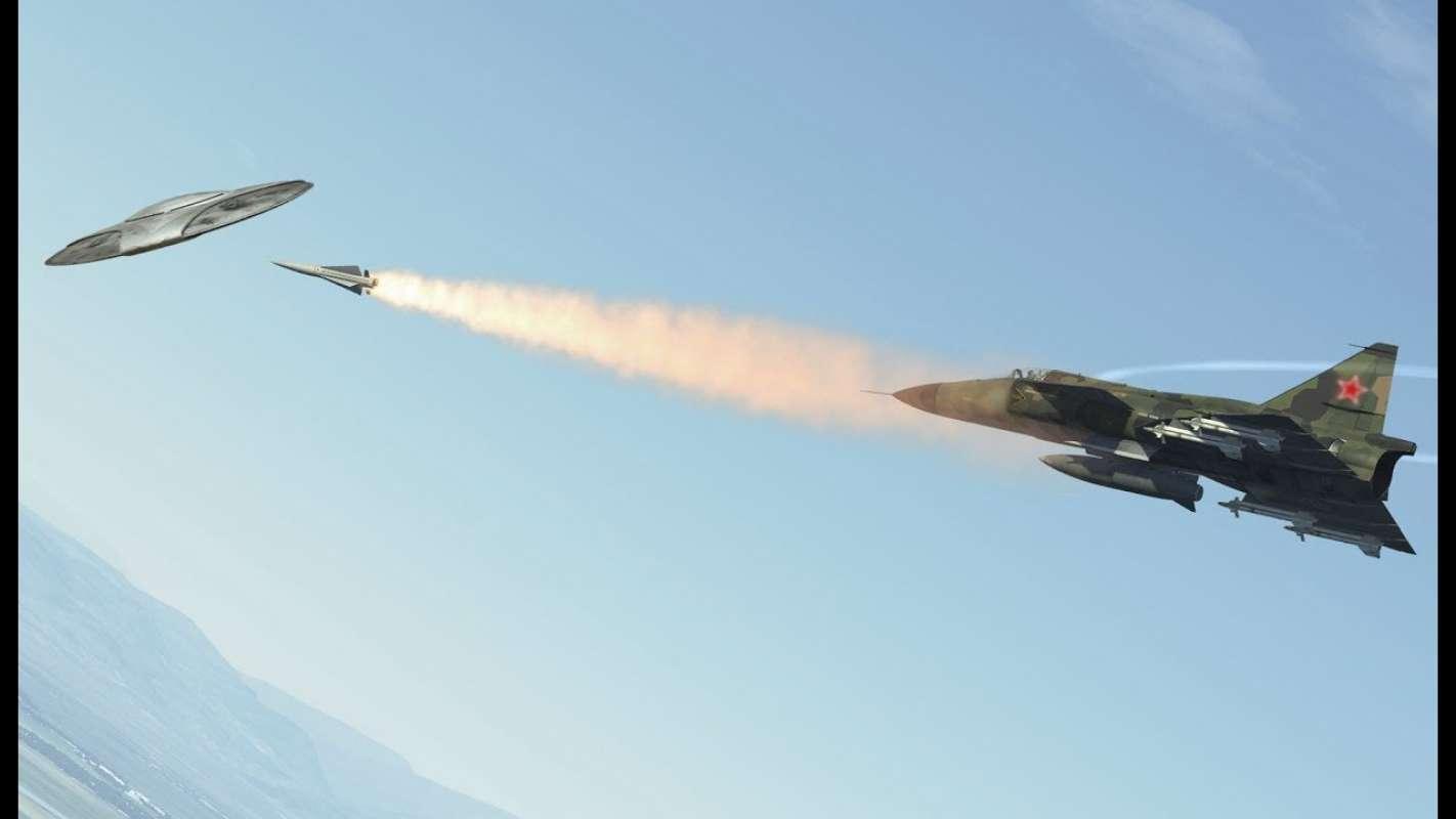 Американские лётчики наткнулись на кучу НЛО во время учебного полёта