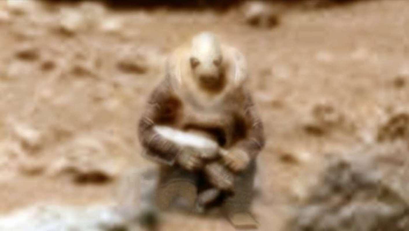 Неужели на Марсе сфотографировали настоящего пришельца? Невероятное фото выложили в сеть