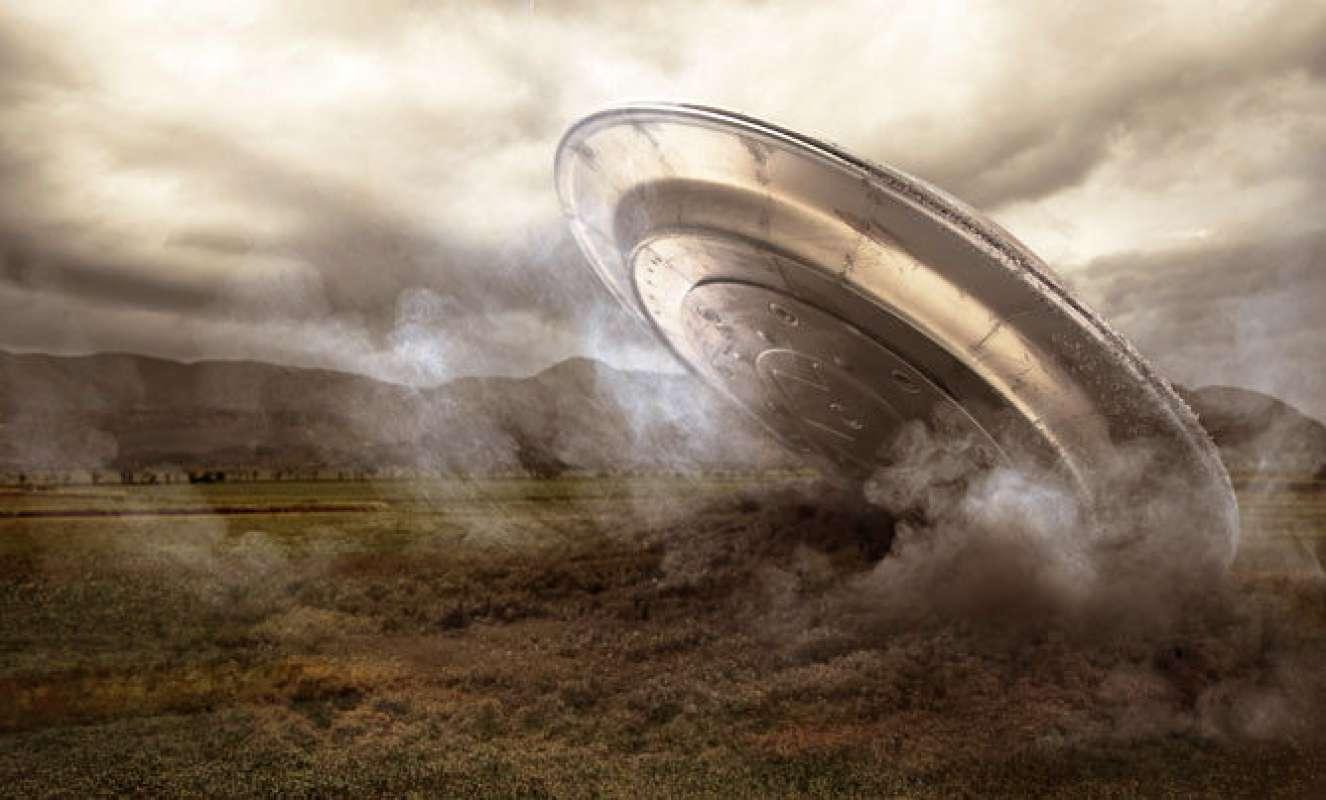 Тула в шоке: Крушение НЛО попало на видео