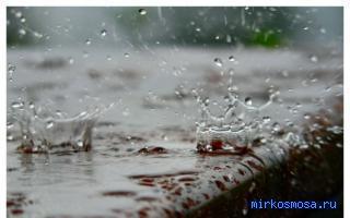 Попасть под дождь и ветер во сне