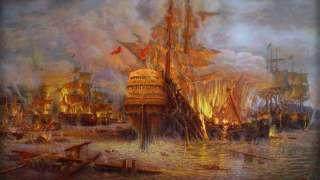 День победы русского флота над турецким флотом в Чесменском сражении (1770 год)