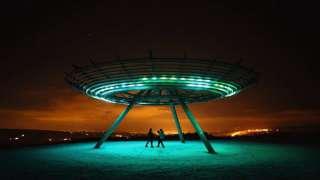 Неопознанный летающий объект был замечен в небе над Лондоном