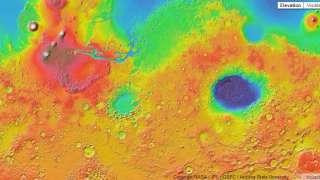 Карта Марса