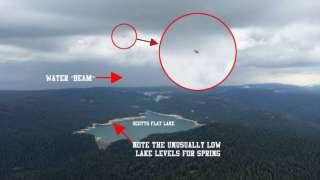 Пилот самолета заснял НЛО, ворующее воду из озера