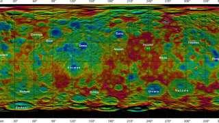 Зонд Dawn предал НАСА новые изображения Цереры, представляющие собой топографическую карту