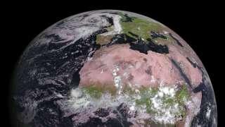 Европейский погодный спутник выполнил высококачественные снимки тропической зоны Африки и лесов Европы