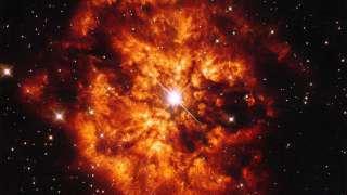 Сотрудники НАСА стали свидетелями внушительного события: слияния звезды и туманности, окружающей ее