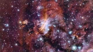 Скопление галактик с «пылающим сердцем»