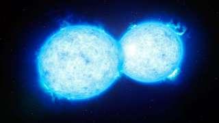 Последний звездный поцелуй двух погибающих космических тел