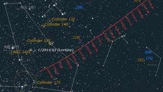 Комета «Лавджоя C/2014 Q2» содержит спирт и сахара-альдозы