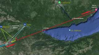 В Байкал упал небольшой метеорит, сошедший с первоначального курса