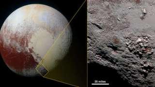 NASA представило фотографию криовулкана на Плутоне
