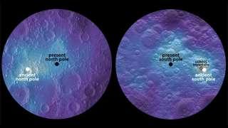 Геофизики из США и Японии заявили, что на Луне сместились полюса