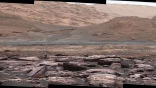 Марсианские пурпурные скалы