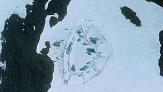 Средневековой замок в Антарктиде