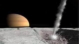 Зонд Кассини нашел под корой Энцелада теплую зону