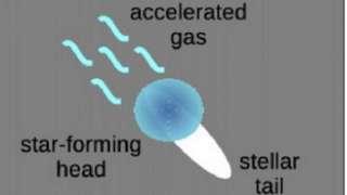 Южнокорейские ученые обнаружили галактику, похожую на медузу