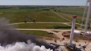 Компания SpaceX провела испытания двигателя первой ступени Falcon Heavy