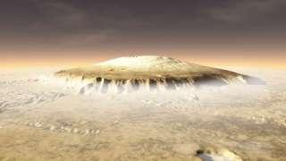 Молодые вулканы Марса могли поддерживать жизнь
