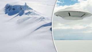 Уфолог заметил таинственный НЛО в небе над Антарктидой