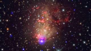 Астрономы удивились галактике с мощным звездообразованием