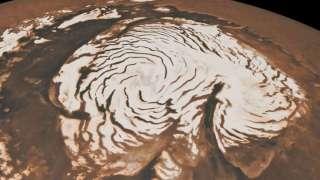 Ночью на Марсе бушуют метели