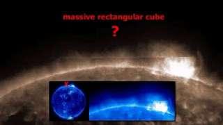 Гигантский загадочный прямоугольник появился над Солнцем