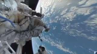 Первое панорамное видео из открытого космоса представили в Москве