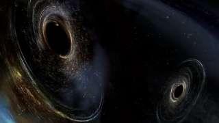При изучении далеких галактик, было обнаружено около десяти черных дыр колоссального размера