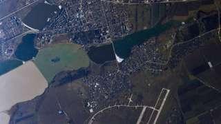 Российский космонавт сфотографировал два крымских города из космоса