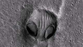 На Марсе нашли загадочный рисунок в виде головы гуманоида